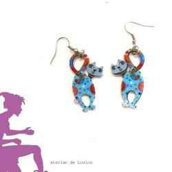 boucles oreilles chat | cat earings