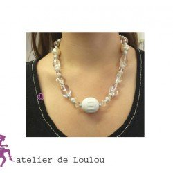 collier blanc | collier perles blanches