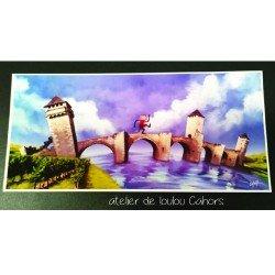 carte cahors | carte pont valentré | cahors postcard