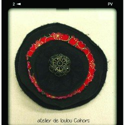 broche noire | broche tissu | broche créateur