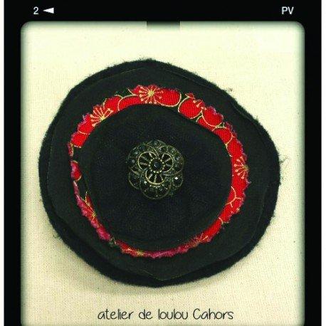 broche noire   broche tissu   broche créateur