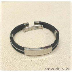 bracelet homme | bracelet silicone | bracelet métal homme