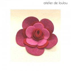 broche rose | broche feutrine | broche laine