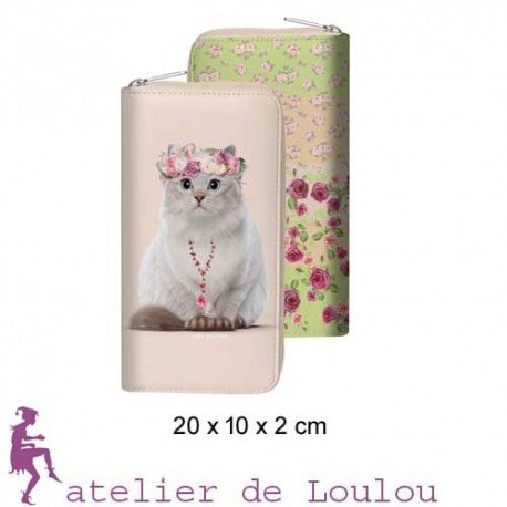 Promo teo Jasmin | achat portefeuille chat