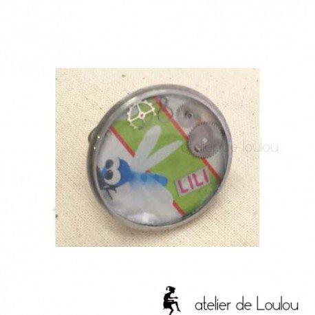 bague résine | bague libellule | dragonfly ring