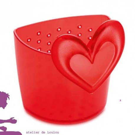 passoire tisane | boule tisane | koziol | coeur design rouge