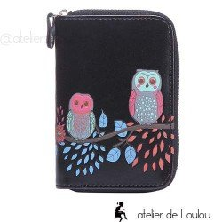 owl wallet | portefeuille chouette | porte monnaie noir
