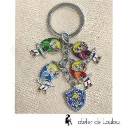 zelda | geek zelda | porte cle métal zelda | ledend of zelda
