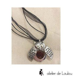 Collier chouette | bijou hibou|owl necklace