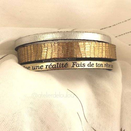 fête des mères | achat bracelet cuir | bracelet personnalisé