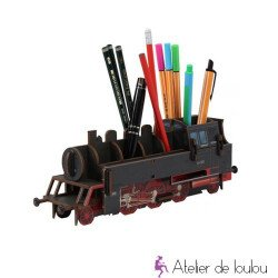 werkhaus locomotive | train en bois | train crayons