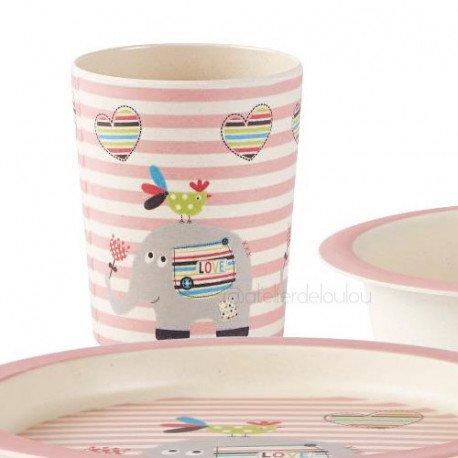 Vaisselle bambou | assiette bambou | verre bambou