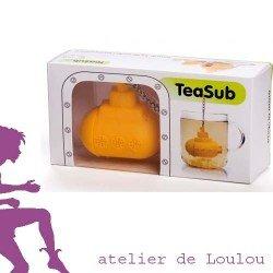 Achat boule à thé sous marin jaune