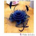 chapeau mariage bleu