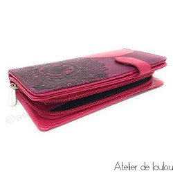 Acheter porte monnaie rose | wallet lotus shagwear