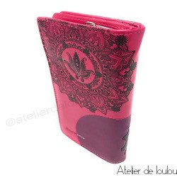 Acheter porte monnaie rose   wallet lotus shagwear