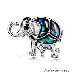 Acheter broche nacre | achat broche éléphant