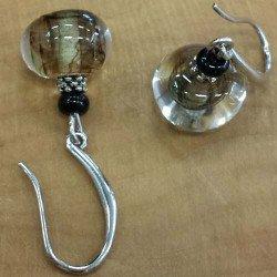 Boucle oreilles verre | bijou artisanal verre filé