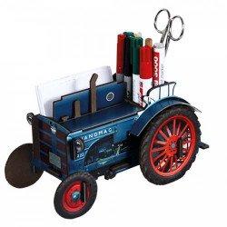 Cadeau agriculteur | acheter tracteur bois | pot crayon agriculteur