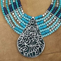 Collier turquoise | achat collier ethnique