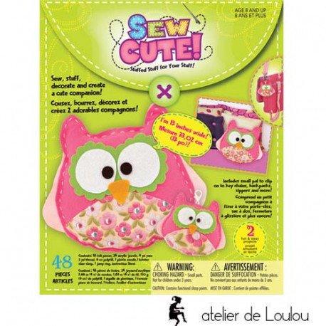 acheter kit couture enfant   kit couture hibou