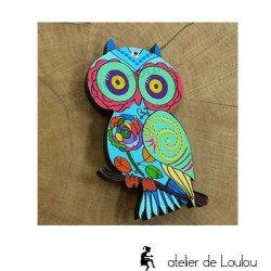 broche chouette | owl brooch | broche hibou