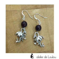 Bijou artisanal | purple agate earing