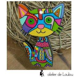 Achat bijou chat | broche avec chat