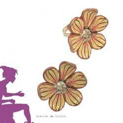 bague fleur | bague multicolore | bague fimo