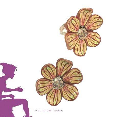 bague fleur   bague multicolore   bague fimo