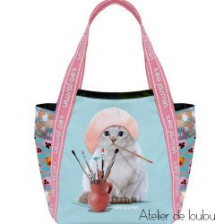 sac cabas TEO JASMIN | sac chat | sac pour le repas