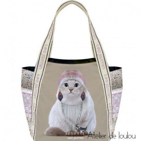 sac cabas jasmine | sac chat gitane | sac pour le repas