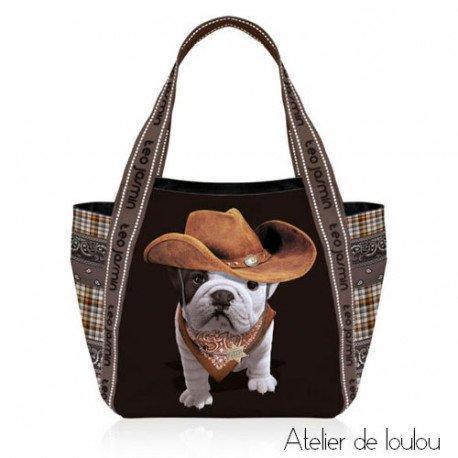 achat sac chien bouledogue | achat sac cow boy