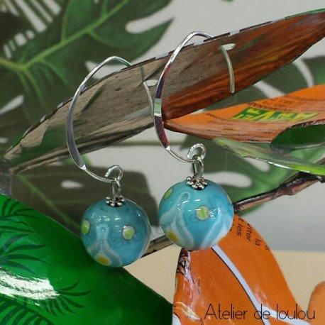 Achat boucle oreille pastel | acheter boucle artisanale
