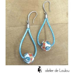 Achat boucle artisanal | acheter boucle bleu
