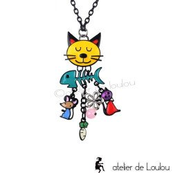 collier | collier chat | collier breloques