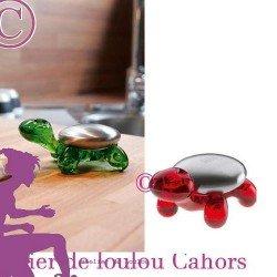 ciseaux manucure et porte ciseaux - KOZIOL -rouge