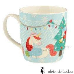 Mug noel | unicorn christmas mug