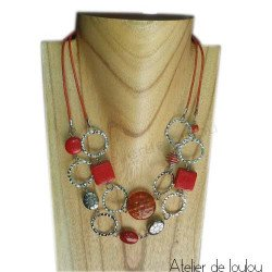 Achat collier orange | acheter collier orange fait main