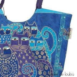 Sac bleu chats | laurel burch medium