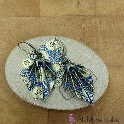 bijou japonais origami | acheter bijou bleu