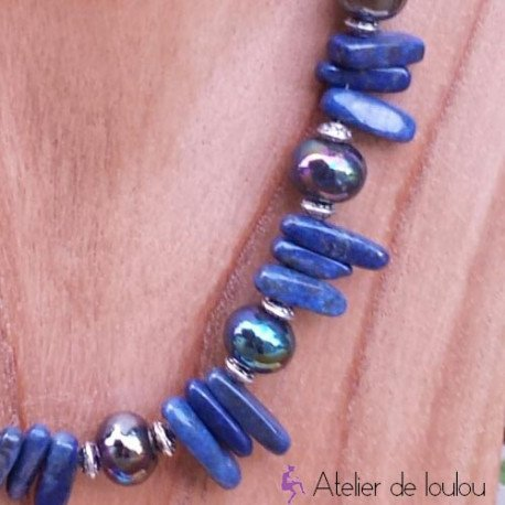 achat collier lapis lazuli   acheter collier bleu