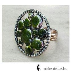 acheter bague metal | green ring
