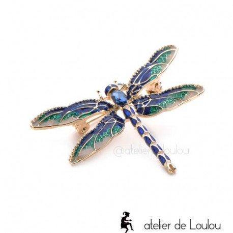 Broche insecte   accessoire libellule