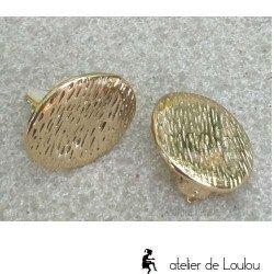 achat clips oreilles   achat clip plat doré
