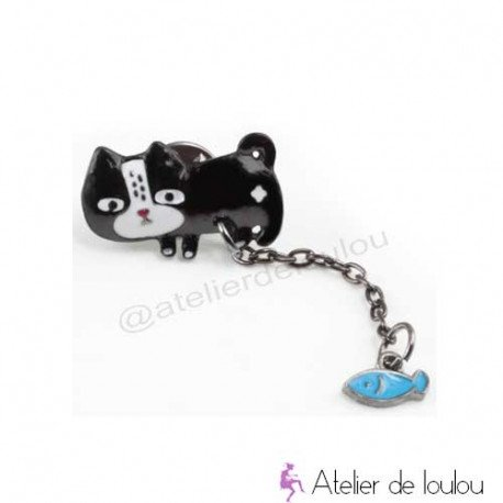 broche chat | broche poisson chat