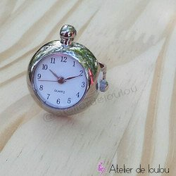 Bague heure | bague réglable| bague montre
