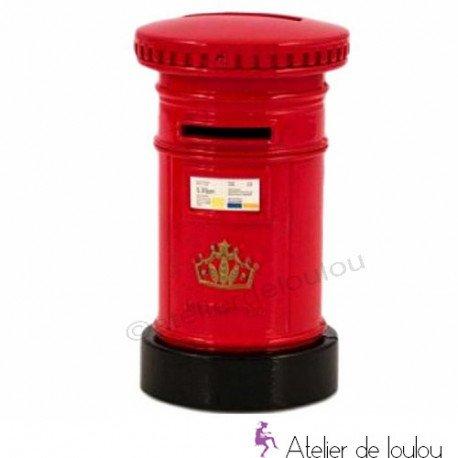 Money box london | achat tirelire rouge