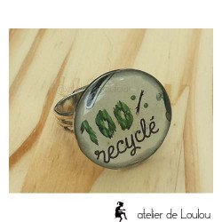 Bague création pas cher   bague recyclage   green ring