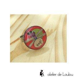 Bague libellule   bague réglable  dragonfly ring